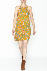 Everly Yellow Floral Shift Dress - Side cropped