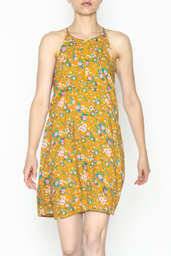 Shoptiques Product: Yellow Floral Shift Dress