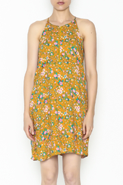 Everly Yellow Floral Shift Dress - Front full body