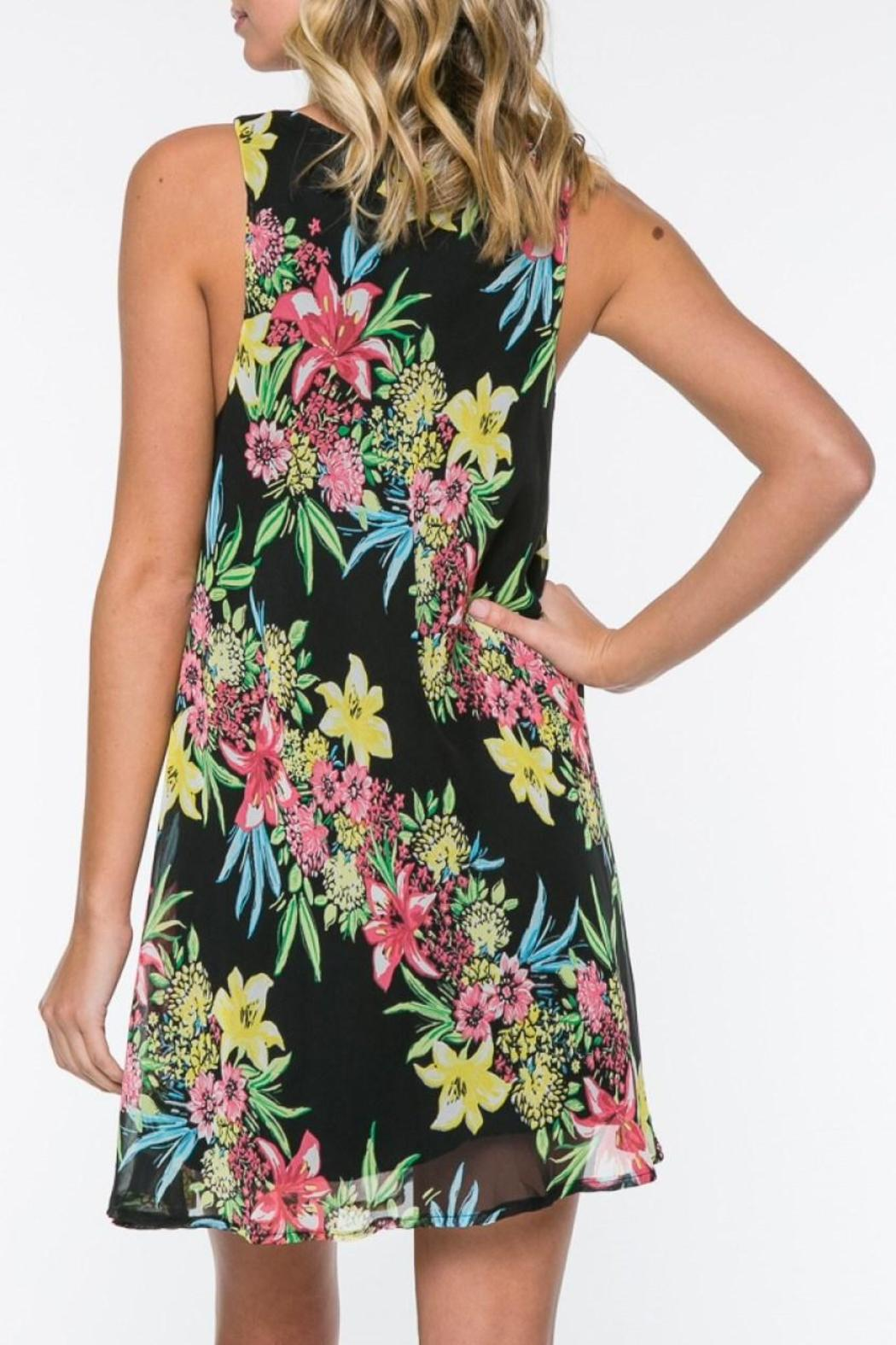 Everly Floral Shift Dress - Front Full Image