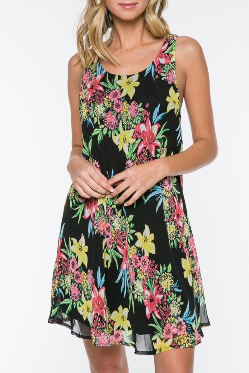 Everly Floral Shift Dress - Main Image