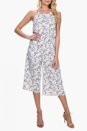 Everly Floral Stripe Jumpsuit - Product Mini Image
