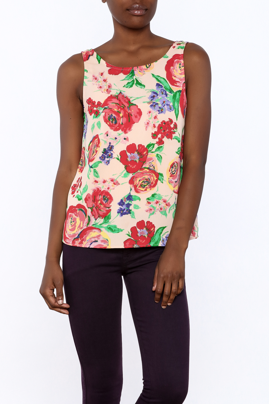 Everly Floral Tank Top - Main Image
