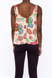 Everly Floral Tank Top - Back cropped