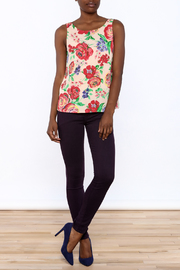 Everly Floral Tank Top - Front full body