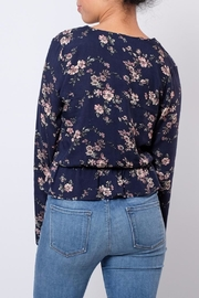 Everly Floral V Neck Blouse - Side cropped