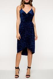 Everly Floral Velvet Dress - Product Mini Image