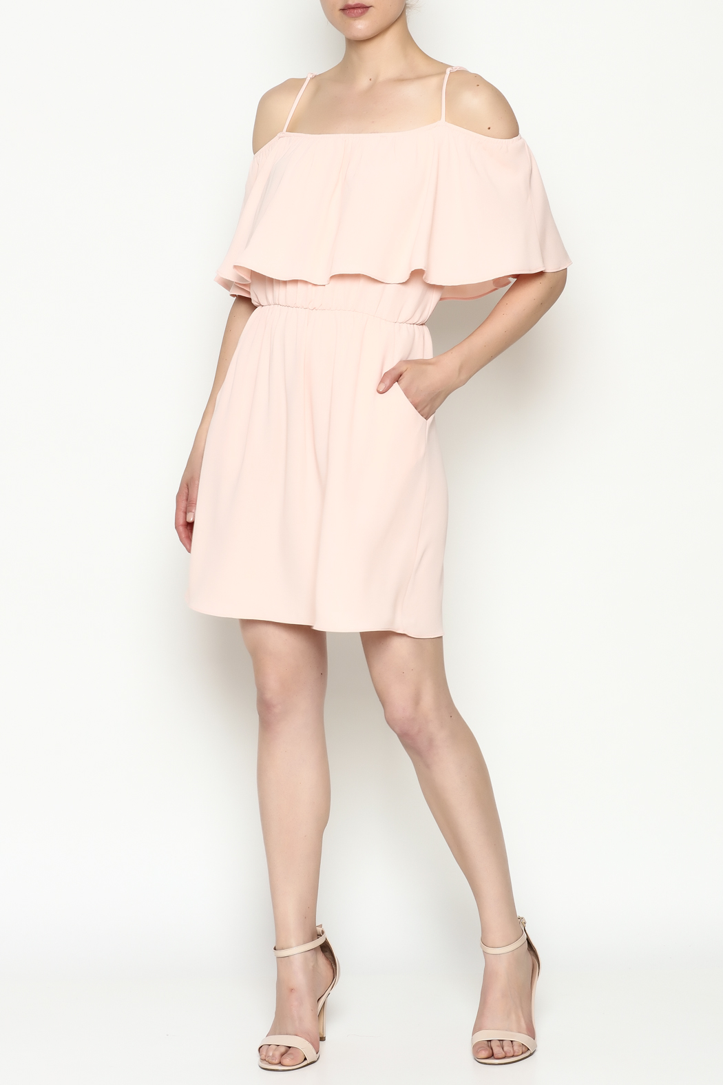 Everly Front Ruffle Dress - Side Cropped Image