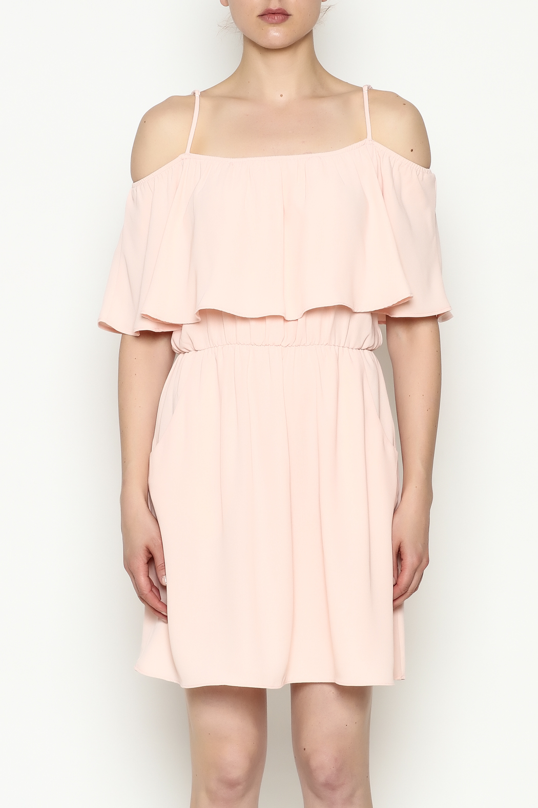 Everly Front Ruffle Dress - Front Full Image