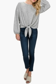 Everly Front-Tie Knit Top - Back cropped
