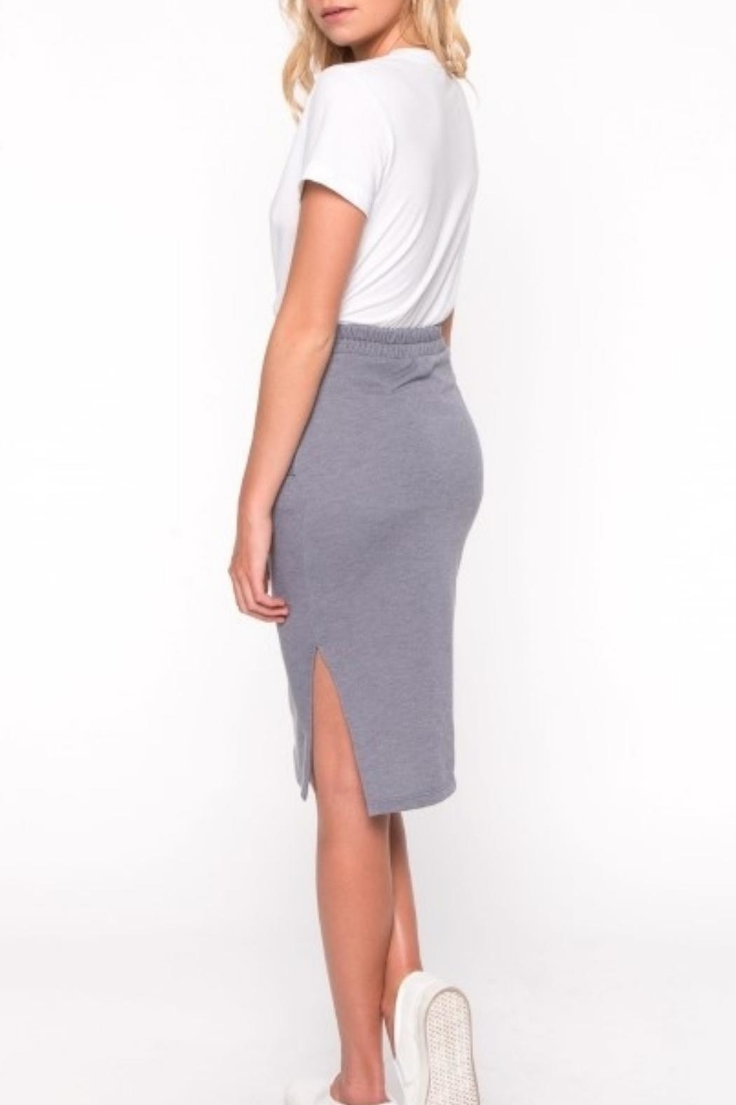 Everly Front Tie Skirt - Side Cropped Image