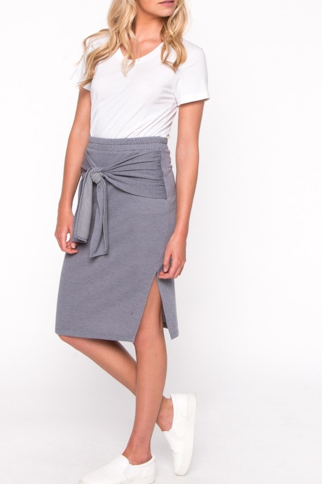 Everly Front Tie Skirt - Front Full Image