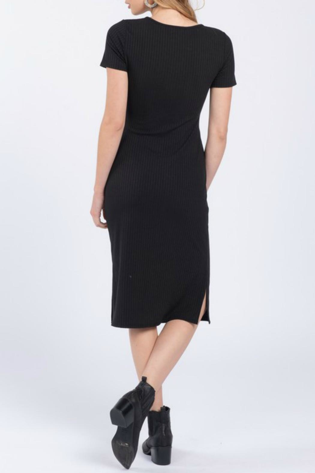 Everly Front Twist Dress - Front Full Image