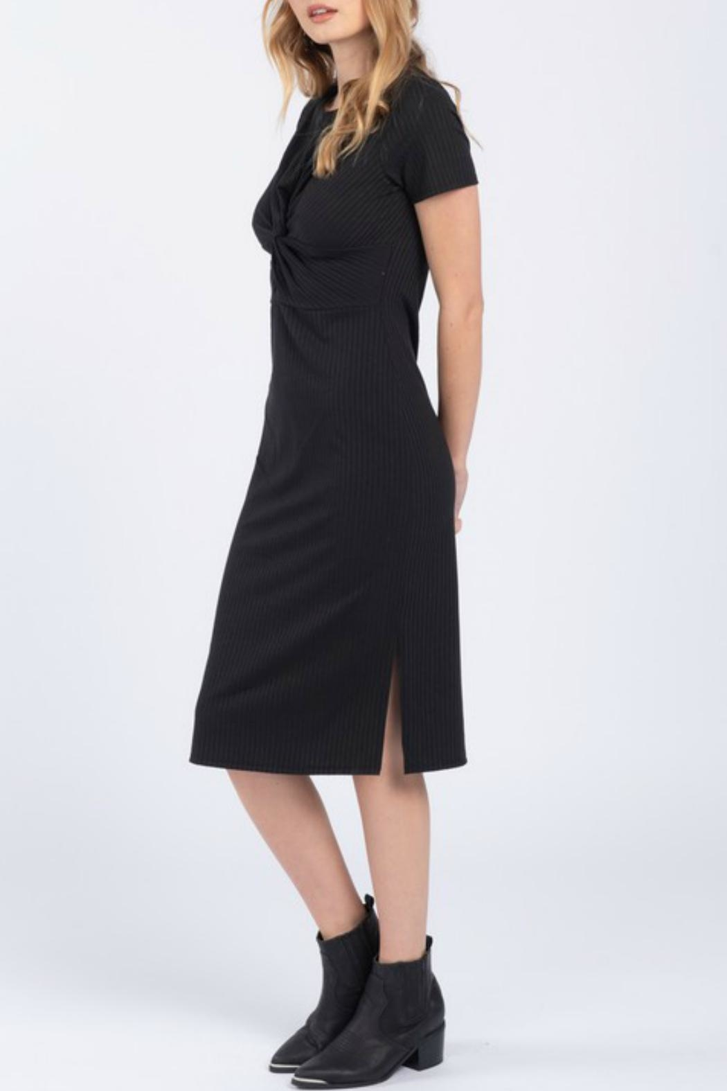 Everly Front Twist Dress - Side Cropped Image