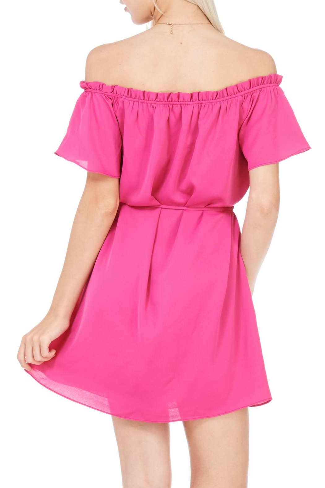Everly Fuchsia Dress - Side Cropped Image