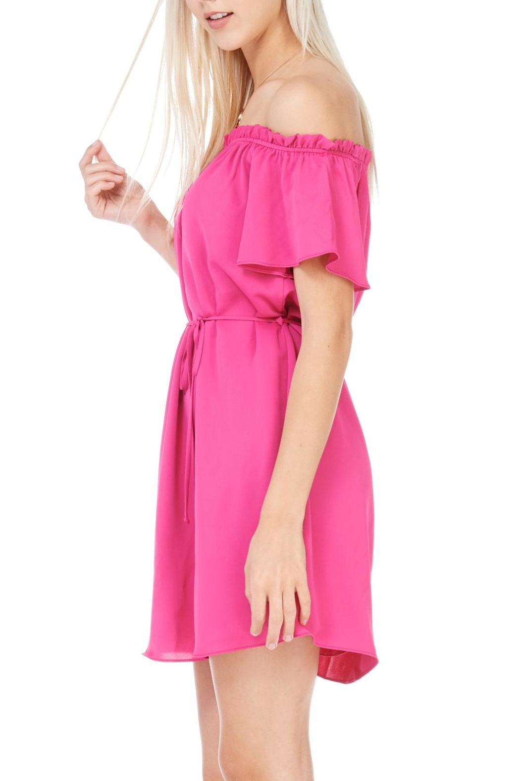 Everly Fuchsia Dress - Back Cropped Image
