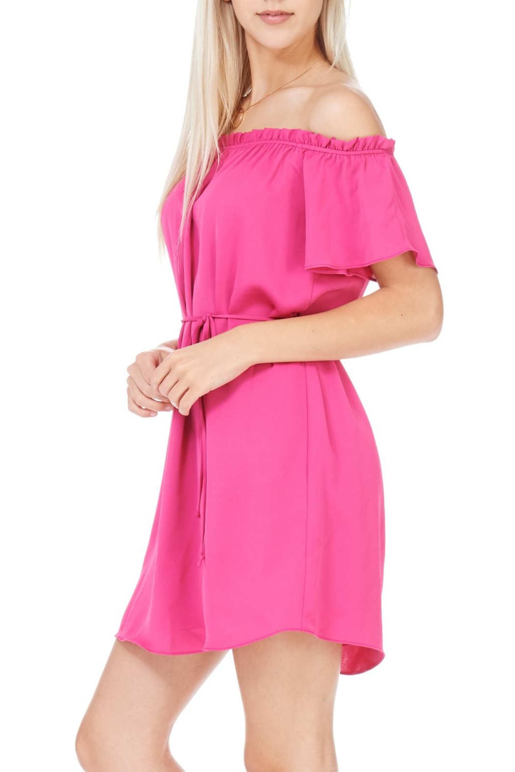 Everly Fuchsia Dress - Front Full Image