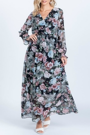 Everly Full-Bloom Surplice Maxi-Dress - Product Mini Image