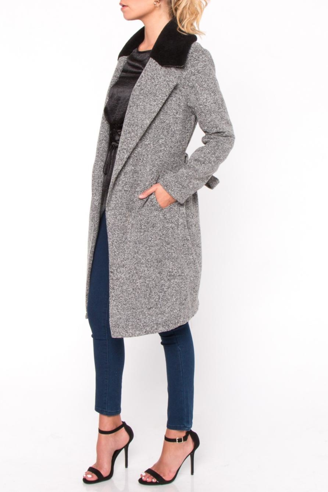 Everly Fur Collar Coat - Front Full Image