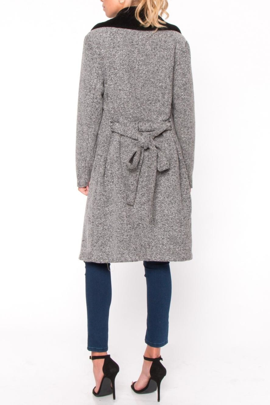 Everly Fur Collar Coat - Side Cropped Image