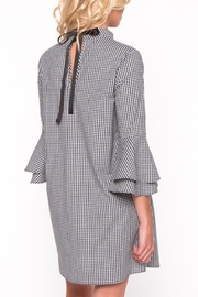 Everly Gingham Bell Sleeve Dress - Side cropped