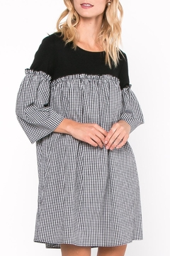 Everly Gingham Contrast Dress - Product List Image
