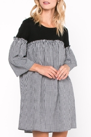 Everly Gingham Contrast Dress - Product Mini Image