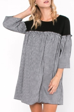 Everly Gingham Contrast Dress - Alternate List Image