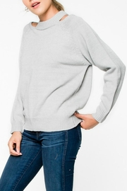 Everly Grey Cut-Out Sweater - Product Mini Image