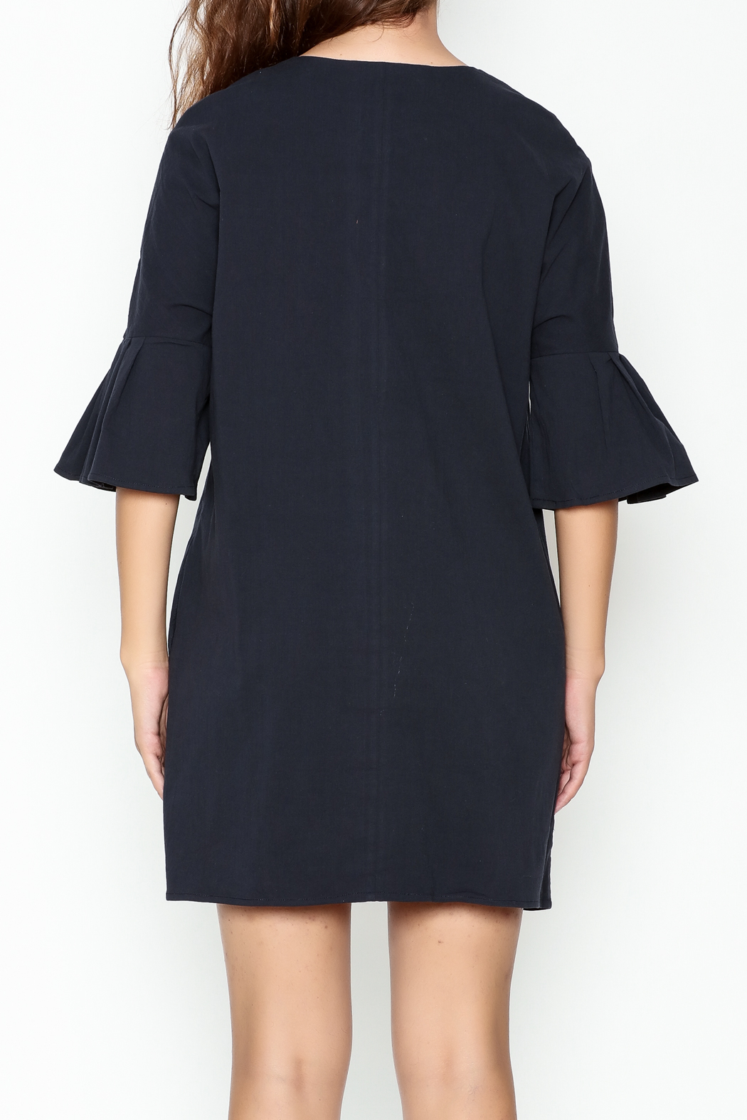 Everly Grommet Dress - Back Cropped Image