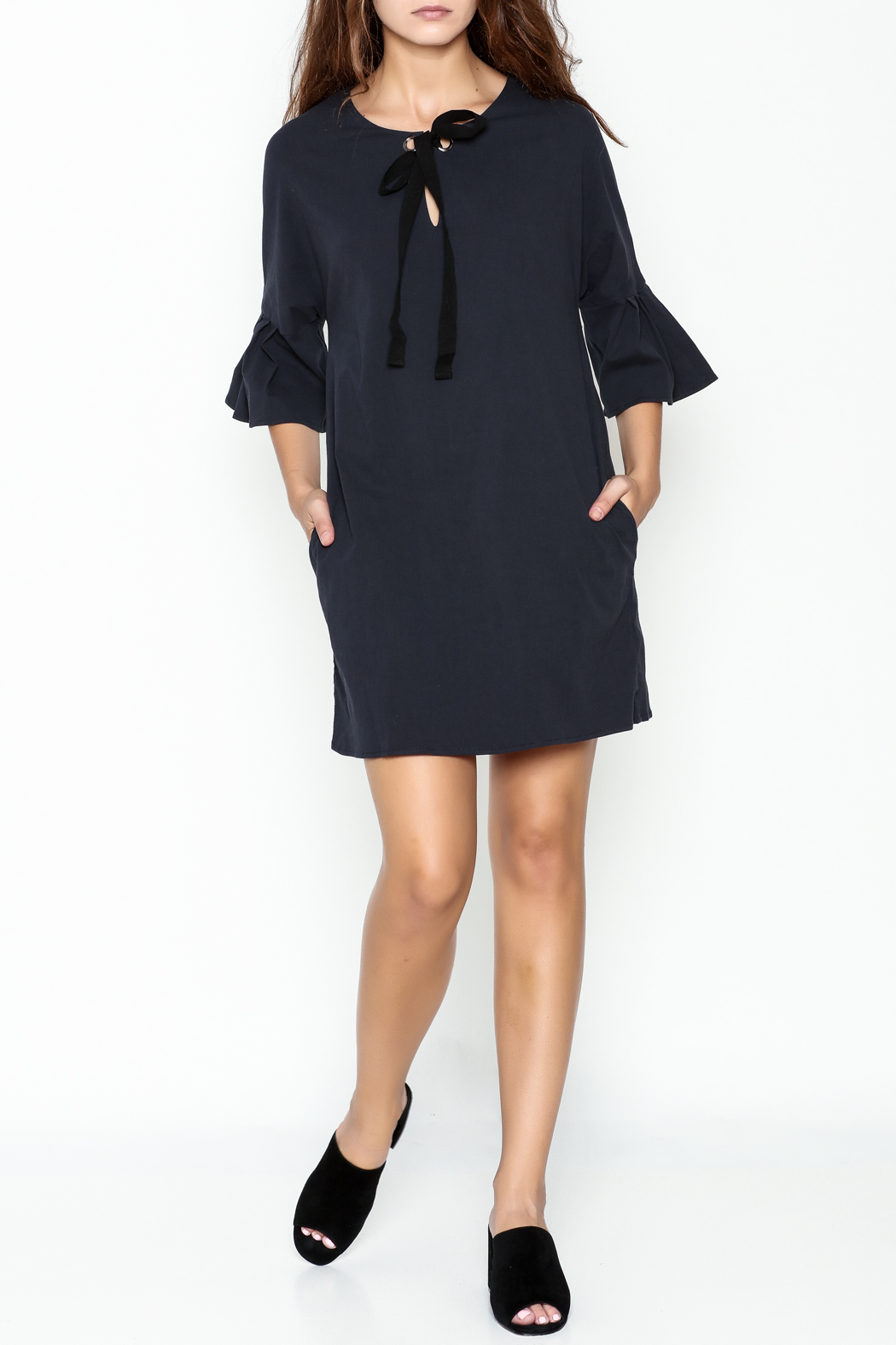 Everly Grommet Dress - Side Cropped Image