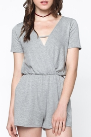 Everly Heather Grey Romper - Product Mini Image