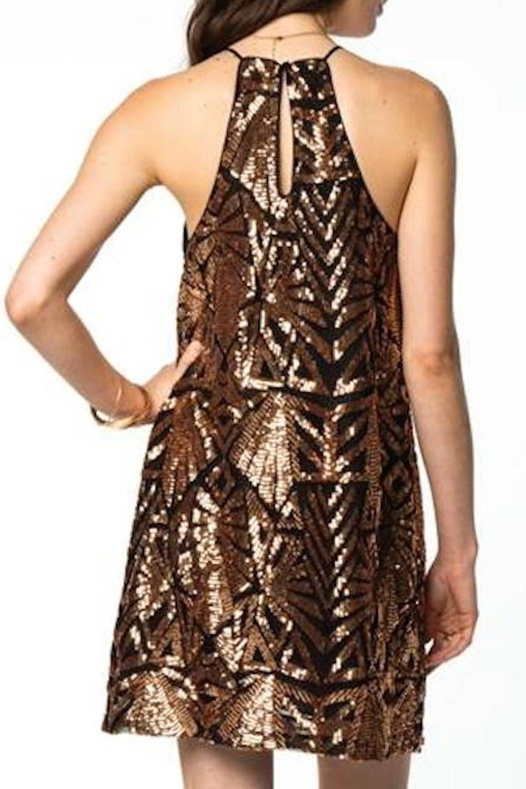 Everly Holiday Shift Dress - Front Full Image
