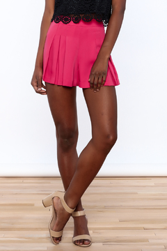 Shoptiques Product: Hot Pink Pleated Shorts