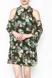 Everly Hunter Green Floral Dress - Product Mini Image