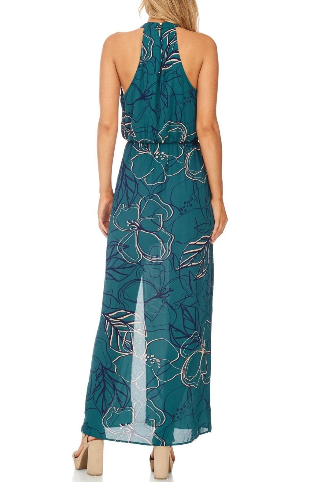 Everly Jade Maxi Halter Dress - Back Cropped Image
