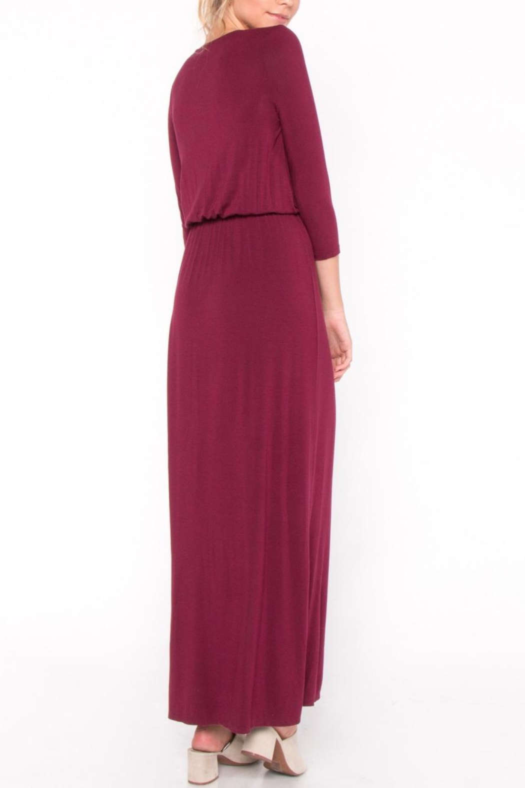 Everly Jersey Overlay Maxi Dress - Back Cropped Image