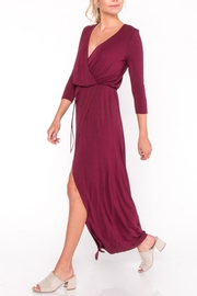 Everly Jersey Overlay Maxi Dress - Front cropped