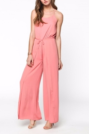 Everly Pink Sleeveless Jumpsuit - Product Mini Image