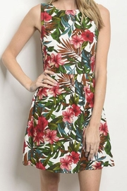 Everly Kona Cotton Tropical Sundress - Front cropped