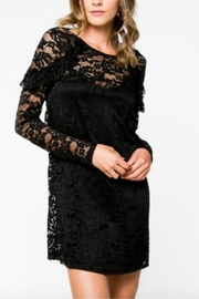 Everly Lace Black Dress - Front cropped