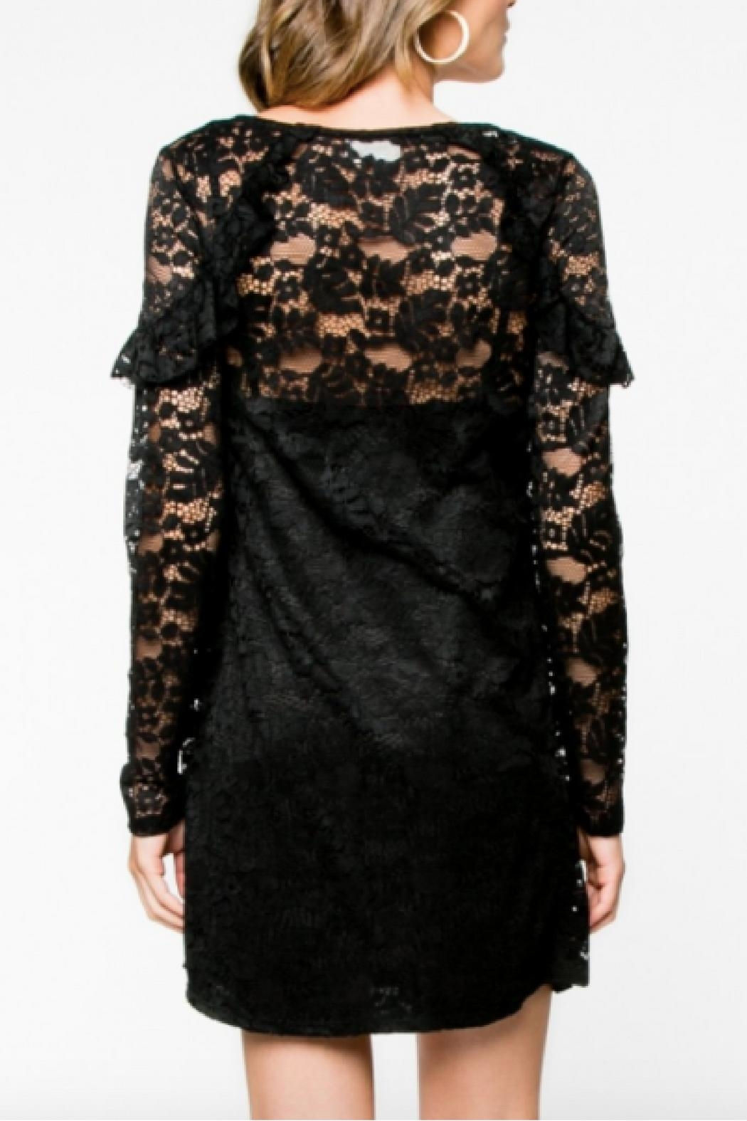 Everly Lace Black Dress - Front Full Image