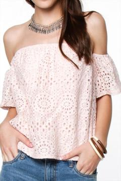 Shoptiques Product: Lace Blush Off Shoulder