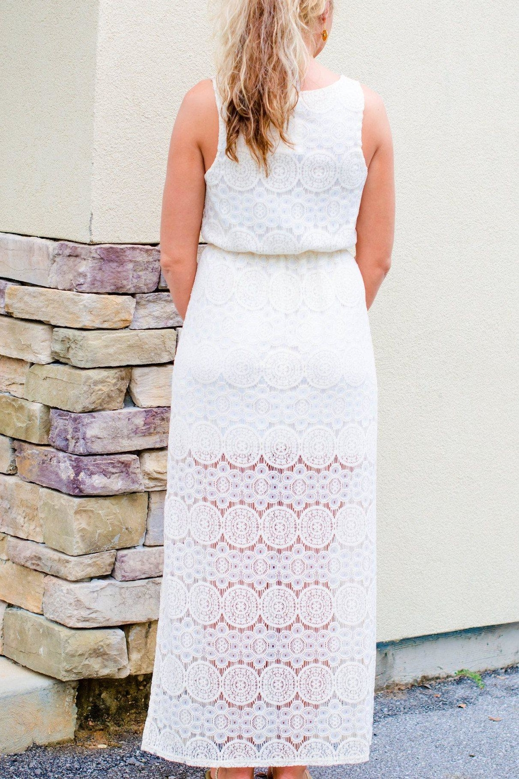 Everly Lace Maxi Dress - Front Full Image