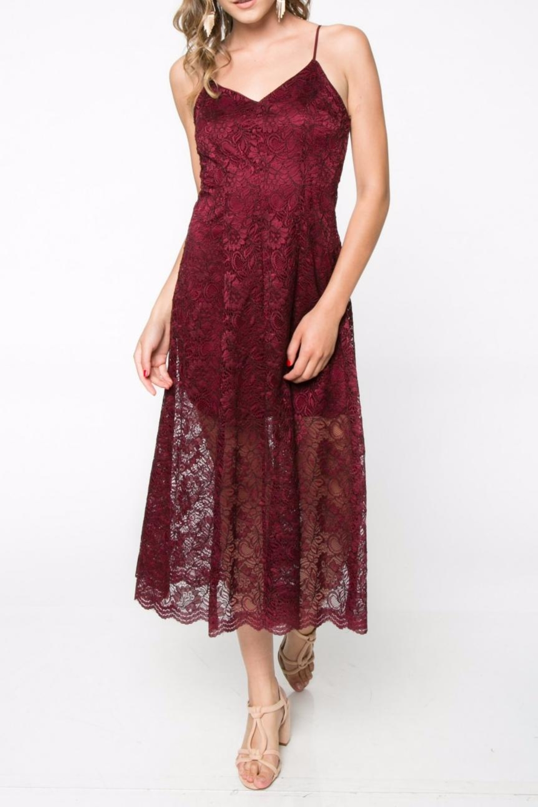 Everly Lace Midi Dress - Main Image