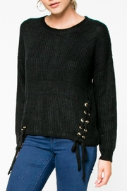 Everly Lace-Up Knit Sweater - Front cropped