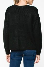Everly Lace-Up Knit Sweater - Side cropped