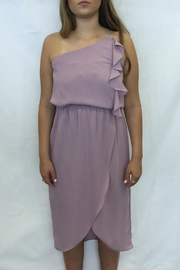 Everly Lavander Asymmetrical Dress - Front cropped