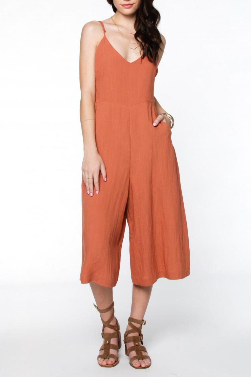 f0c0df4d1fa Everly Linen Culotte Jumpsuit from Virginia by mod soul — Shoptiques