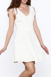 Everly Crisp White Sleeveless Dress - Product Mini Image
